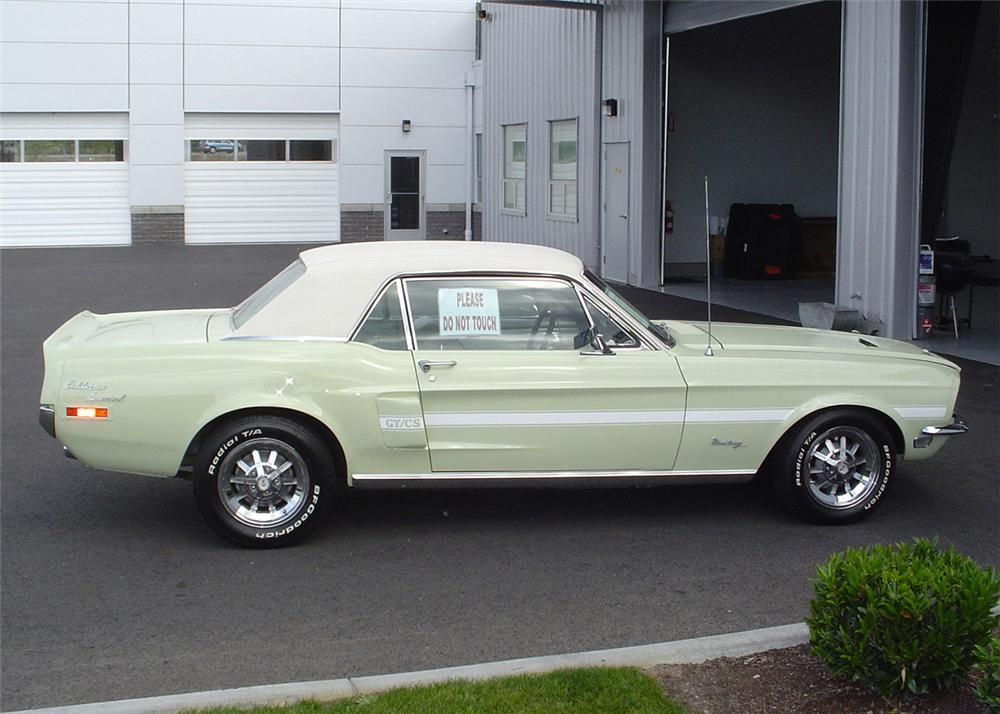1968 FORD MUSTANG CALIFORNIA SPECIAL COUPE - Side Profile - 61001