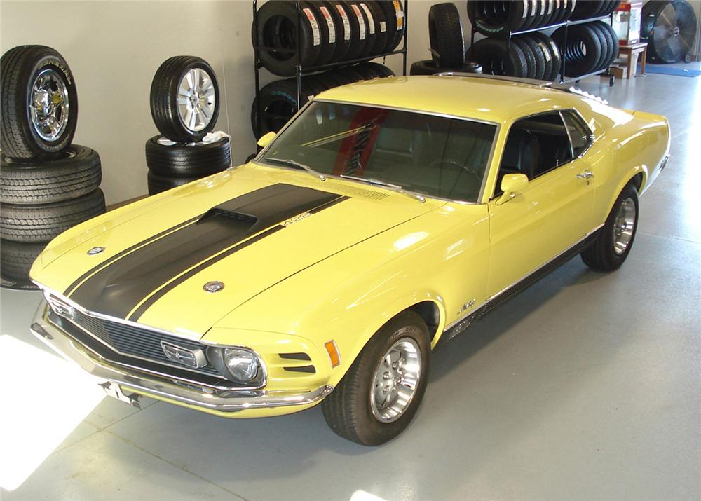 1970 FORD MUSTANG MACH 1 FASTBACK - Front 3/4 - 61002