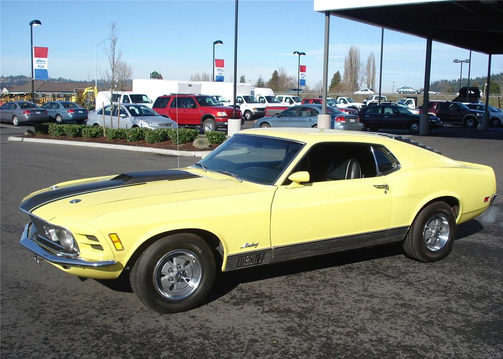 1970 FORD MUSTANG MACH 1 FASTBACK - Side Profile - 61002