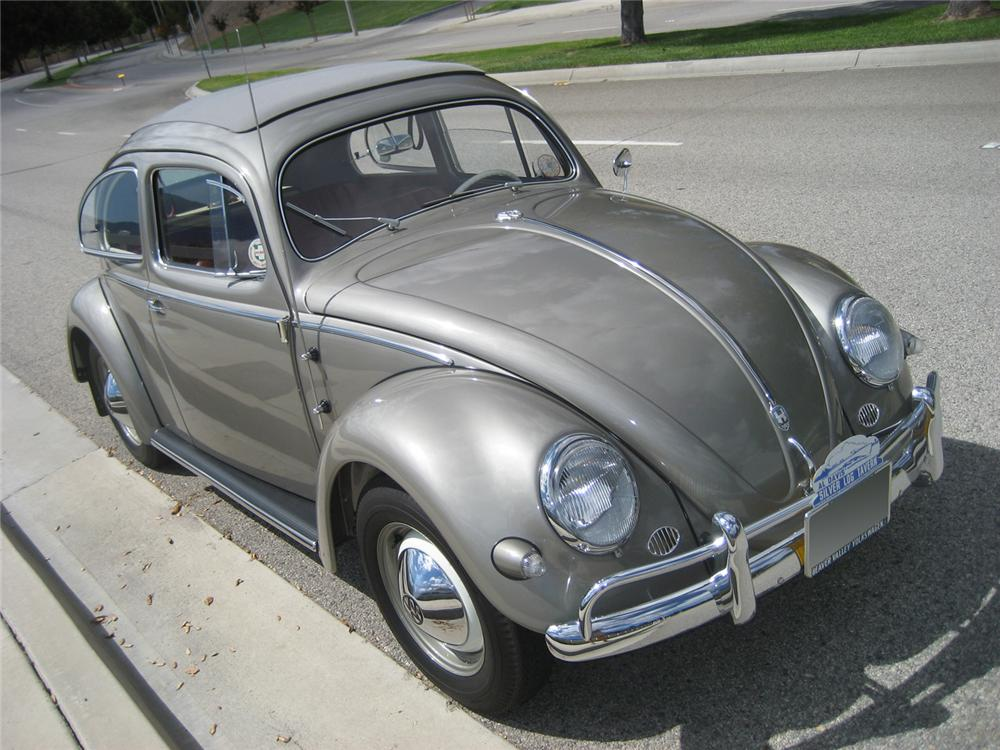 1957 VOLKSWAGEN BEETLE SUNROOF COUPE - Front 3/4 - 61003