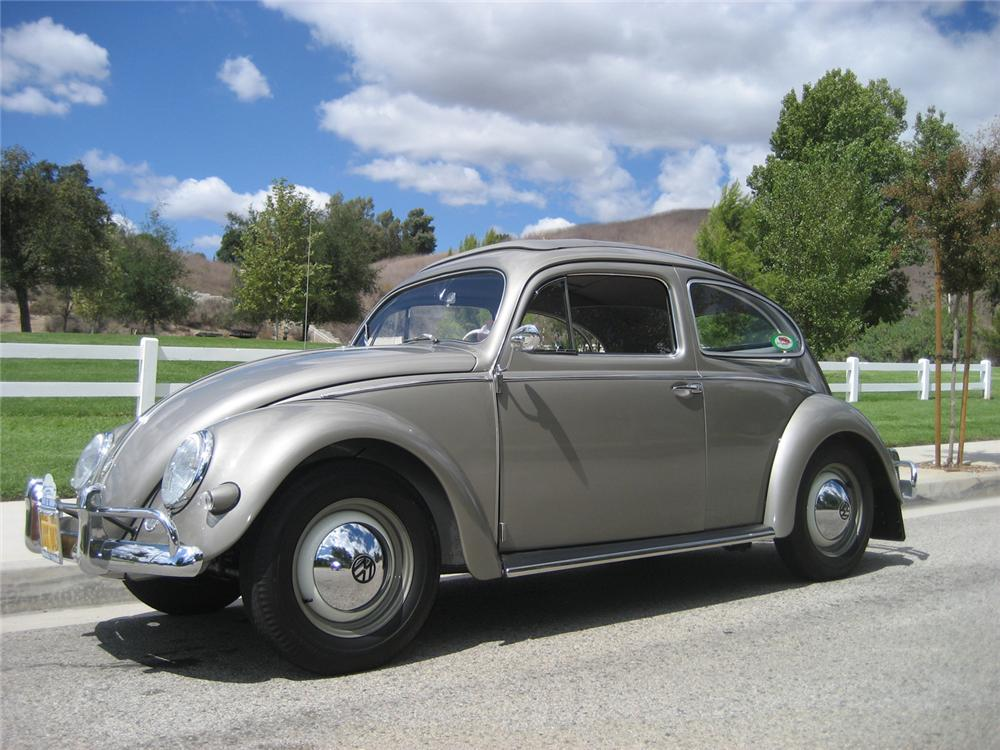 1957 VOLKSWAGEN BEETLE SUNROOF COUPE - Side Profile - 61003