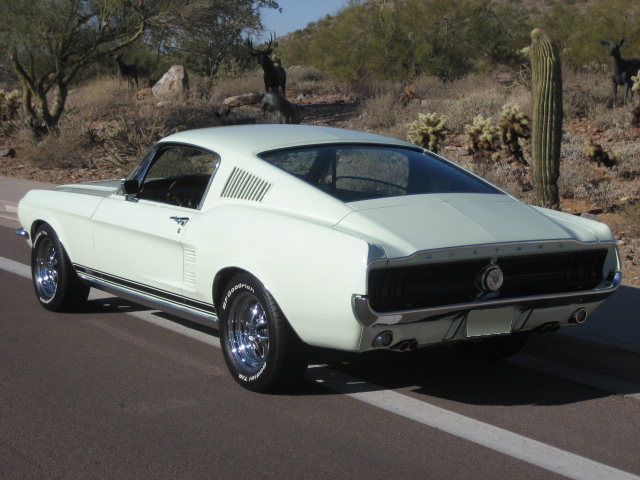 1967 FORD MUSTANG GTA FASTBACK - Rear 3/4 - 61011