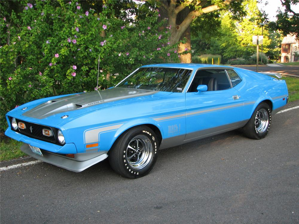 1971 FORD MUSTANG MACH 1 FASTBACK - 61017 Mustang Mach 1 Fastback 1971