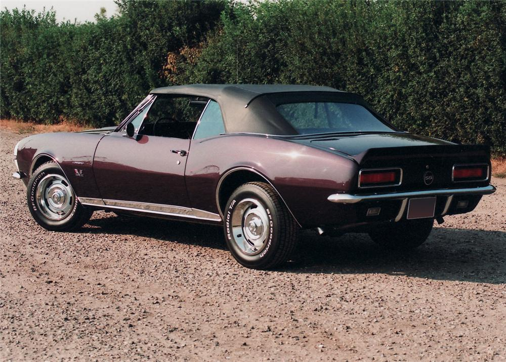 1967 CHEVROLET CAMARO RS/SS CONVERTIBLE - Rear 3/4 - 61018