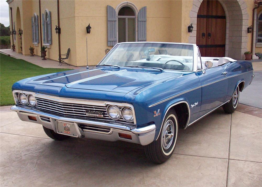 1966 CHEVROLET IMPALA SS CONVERTIBLE - Front 3/4 - 61032