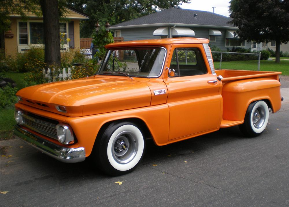 1965 CHEVROLET STEP-SIDE PICKUP - Front 3/4 - 61041