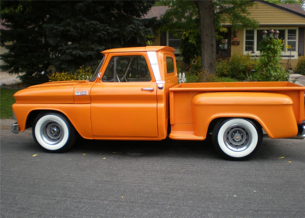 1965 CHEVROLET STEP-SIDE PICKUP - Side Profile - 61041