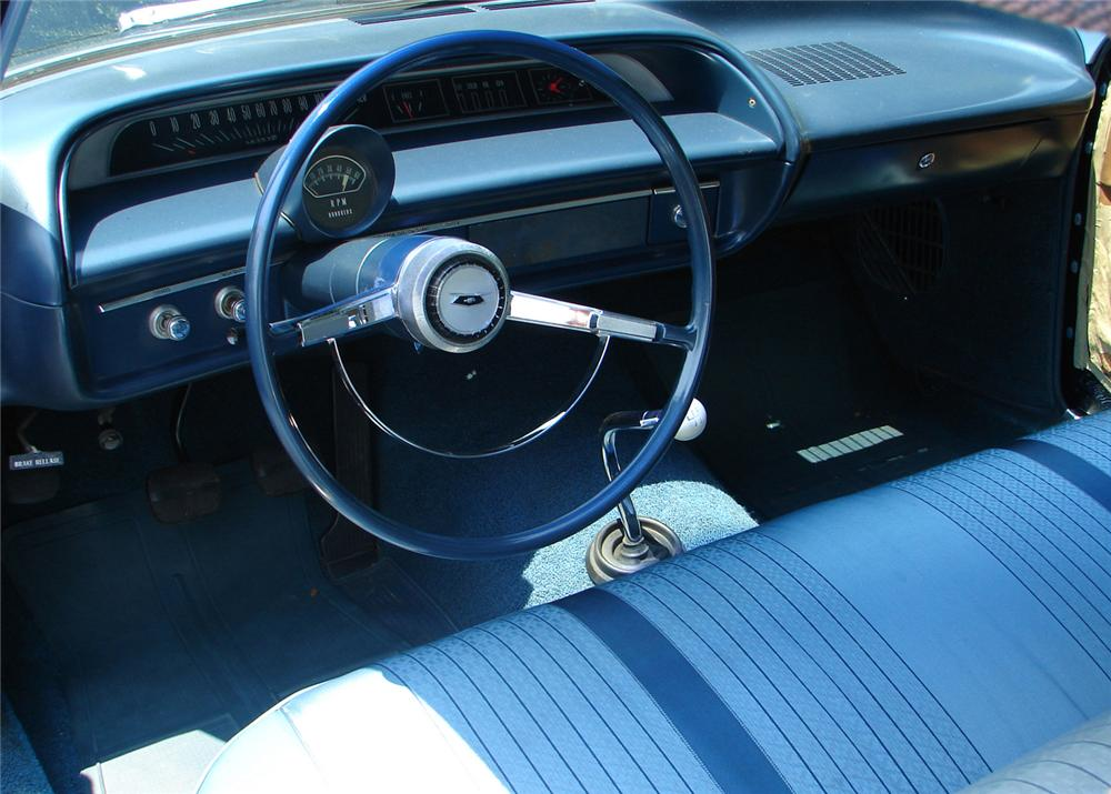 1964 CHEVROLET BEL AIR 2 DOOR SEDAN - Interior - 61058