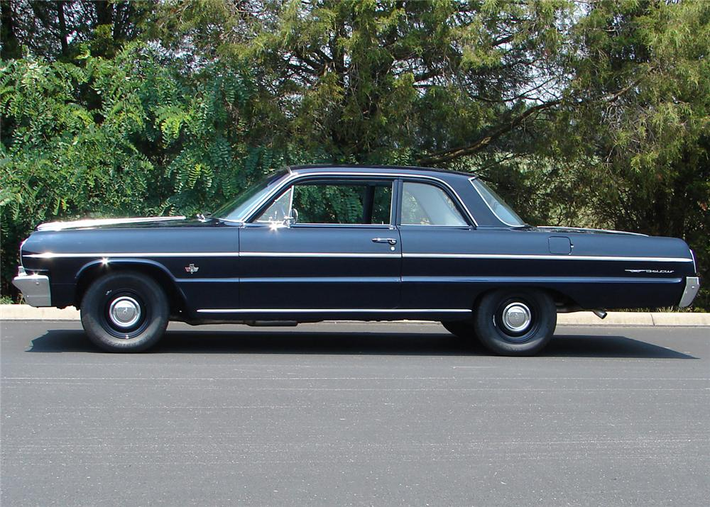1964 CHEVROLET BEL AIR 2 DOOR SEDAN - Side Profile - 61058