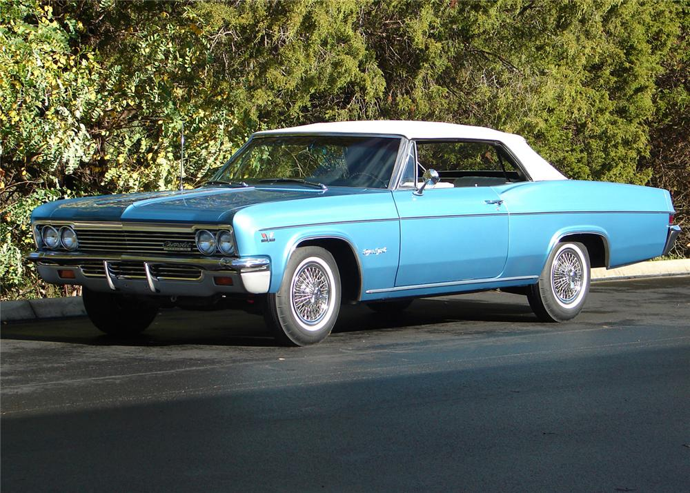 1966 CHEVROLET IMPALA SS CONVERTIBLE - Front 3/4 - 61059