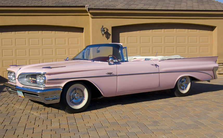 1959 Pontiac Catalina Convertible Pink Lady 61067