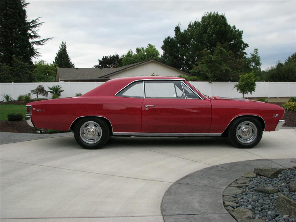 1967 CHEVROLET CHEVELLE SS 396 2 DOOR COUPE RE-CREATION - Side Profile - 61073