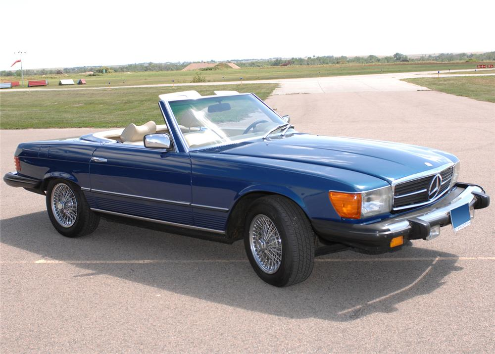 1979 MERCEDES-BENZ 450SL CONVERTIBLE - Front 3/4 - 61091