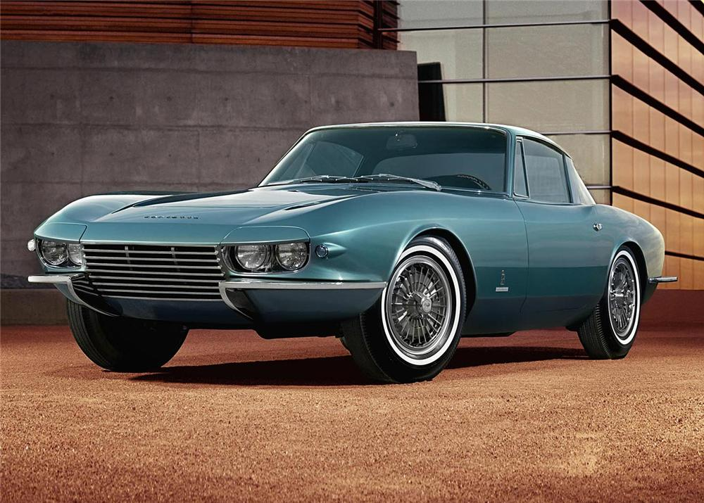 "1963 CHEVROLET CORVETTE COUPE ""RONDINE"" CONCEPT CAR - Front 3/4 - 61096"