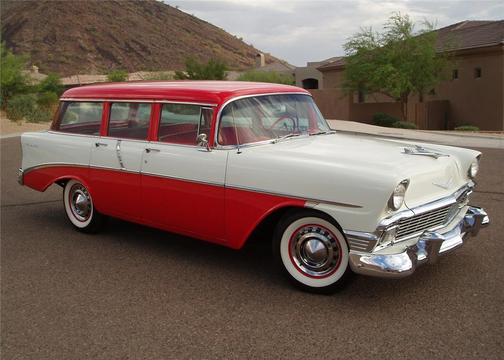 1956 chevrolet 210 4 door station wagon 61107