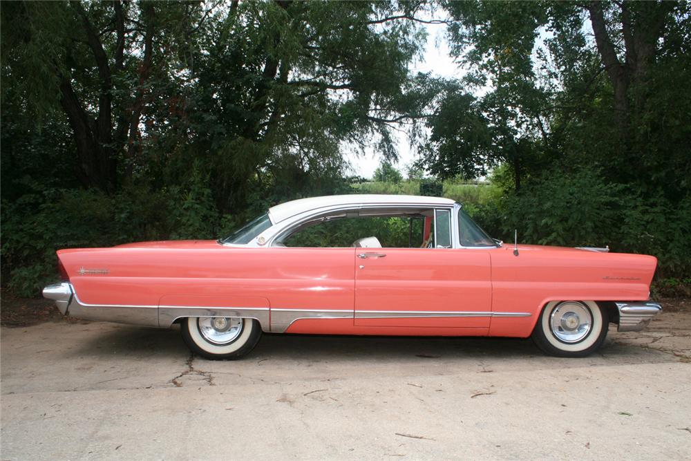 1956 LINCOLN PREMIER 2 DOOR HARDTOP - Side Profile - 61136