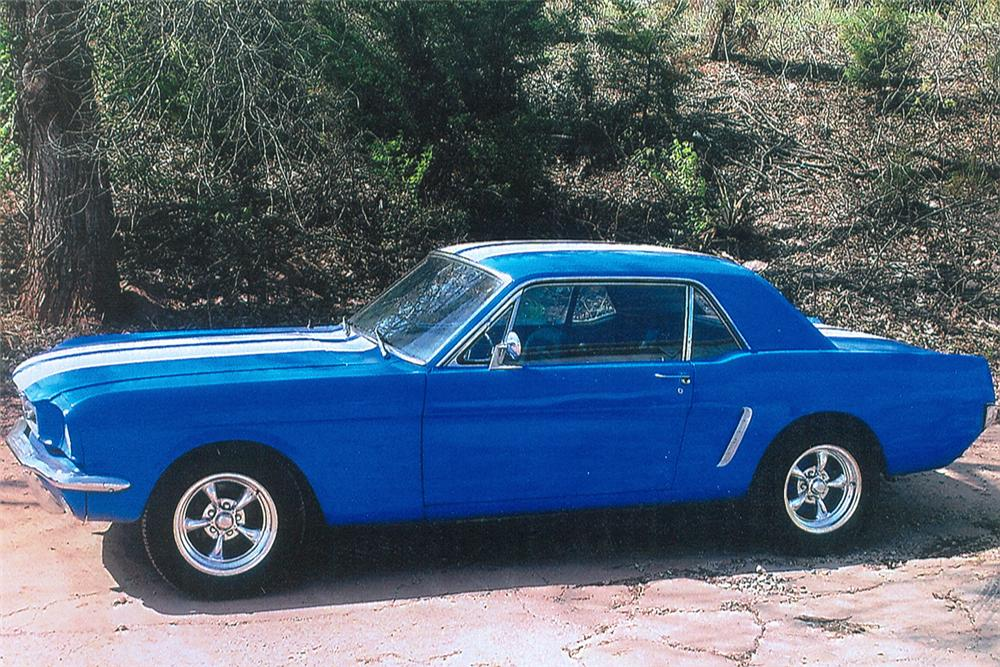 1965 FORD MUSTANG CUSTOM COUPE - Side Profile - 61140