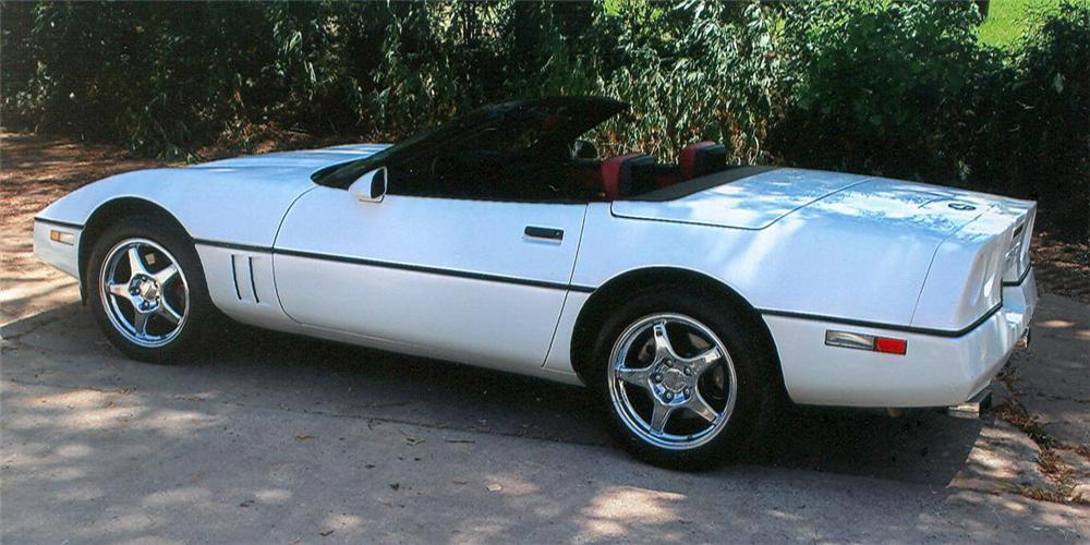 1989 chevrolet corvette convertible rear 3 4 61142. Cars Review. Best American Auto & Cars Review