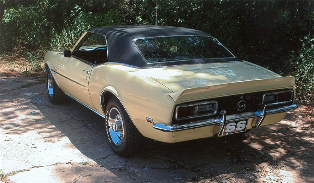 1968 CHEVROLET CAMARO COUPE - Rear 3/4 - 61145