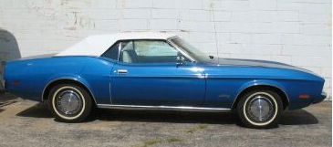 1973 FORD MUSTANG CONVERTIBLE - Side Profile - 61151