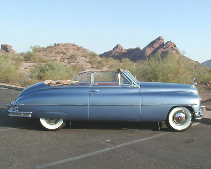 1950 PACKARD VICTORIA SUPER DELUXE CONVERTIBLE - Side Profile - 61152