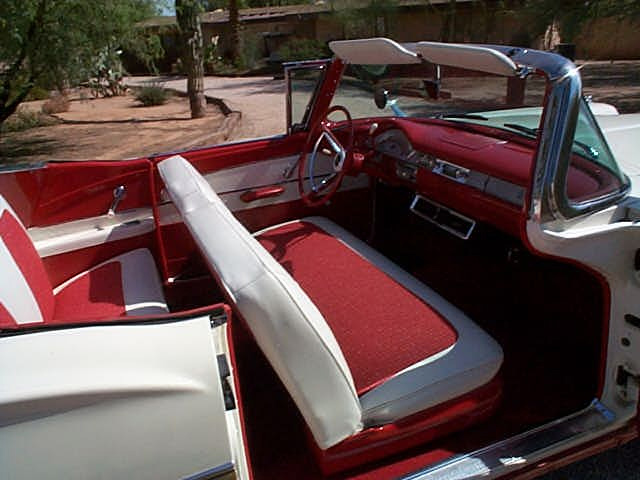 1958 FORD FAIRLANE RETRACTABLE - Interior - 61153