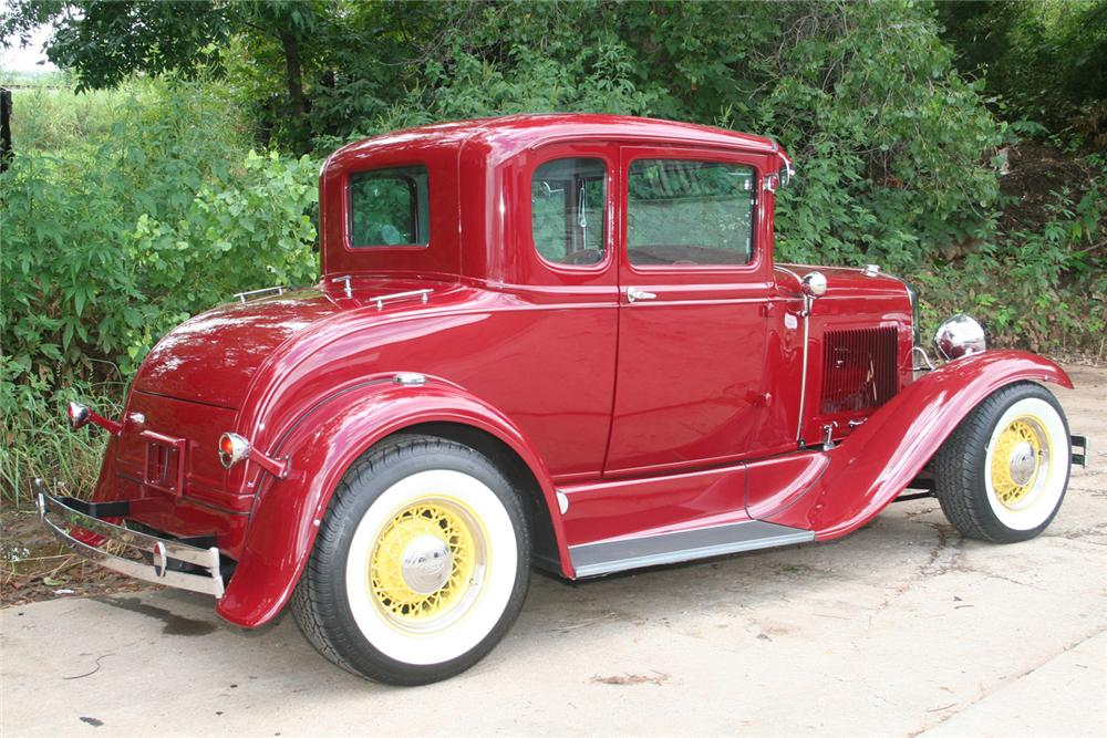 1930 FORD MODEL A CUSTOM COUPE - Rear 3/4 - 61173