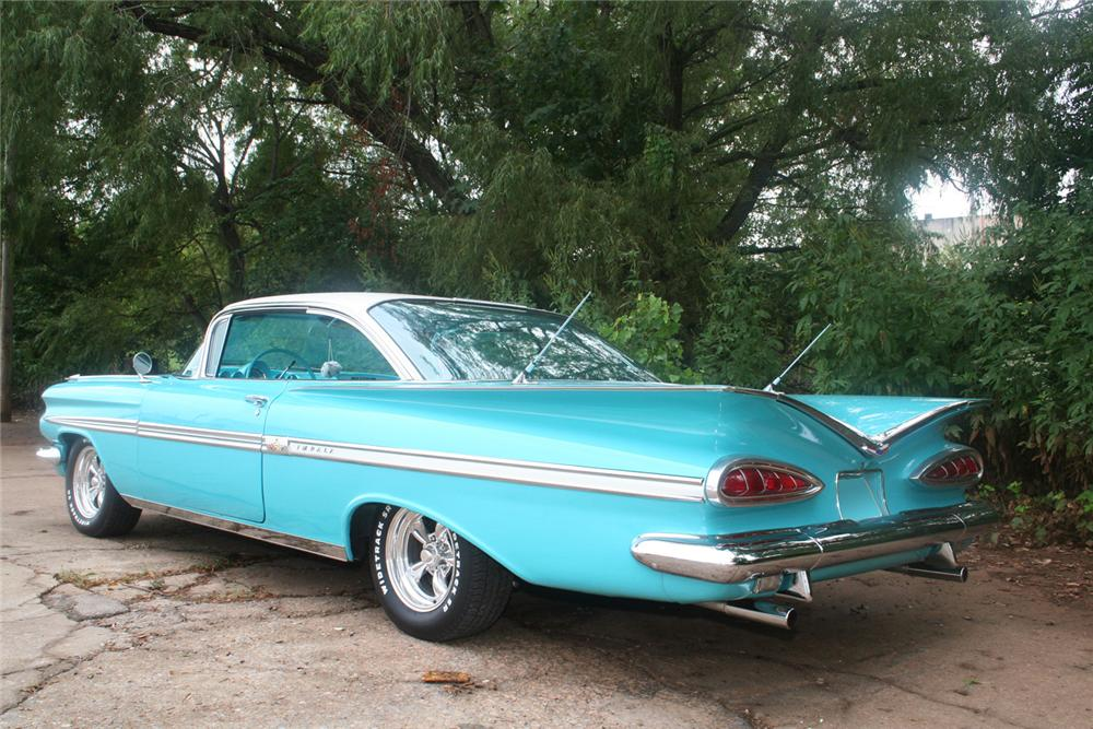 1959 CHEVROLET IMPALA SPORT COUPE - Rear 3/4 - 61175