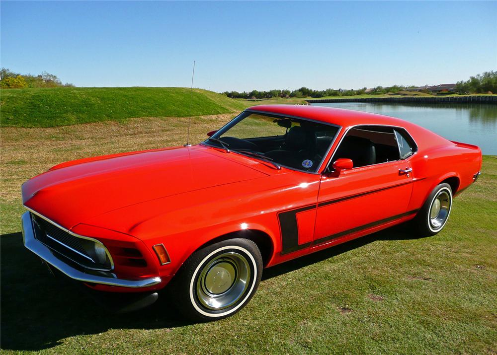 1970 FORD MUSTANG FASTBACK - Front 3/4 - 61210