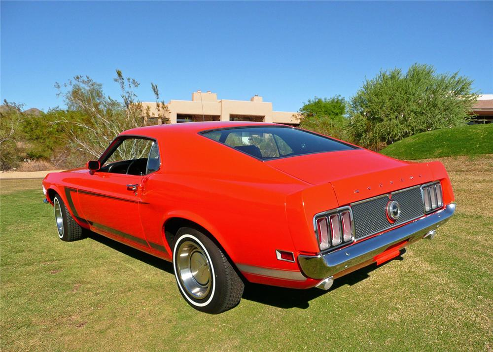 1970 FORD MUSTANG FASTBACK - Rear 3/4 - 61210