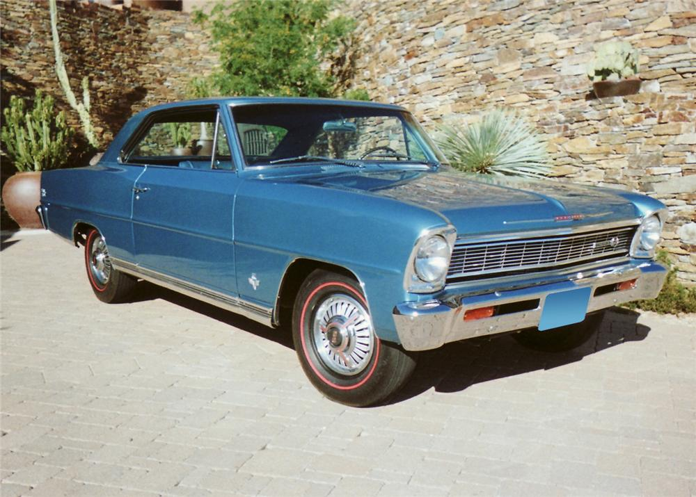 1966 CHEVROLET CHEVY II COUPE - Front 3/4 - 61214