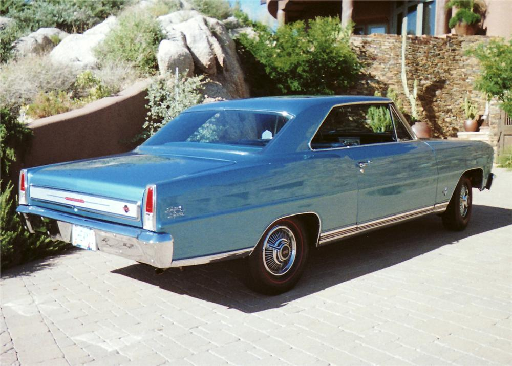 1966 CHEVROLET CHEVY II COUPE - Rear 3/4 - 61214