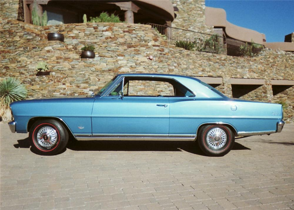1966 CHEVROLET CHEVY II COUPE - Side Profile - 61214