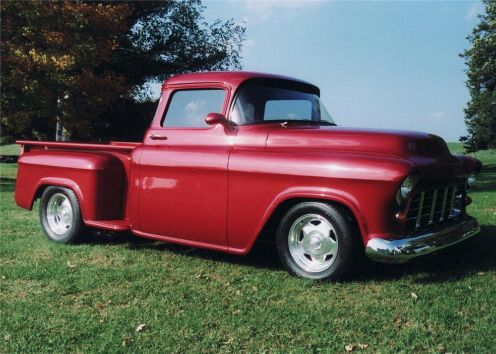 1955 CHEVROLET CUSTOM PICKUP - Front 3/4 - 61228