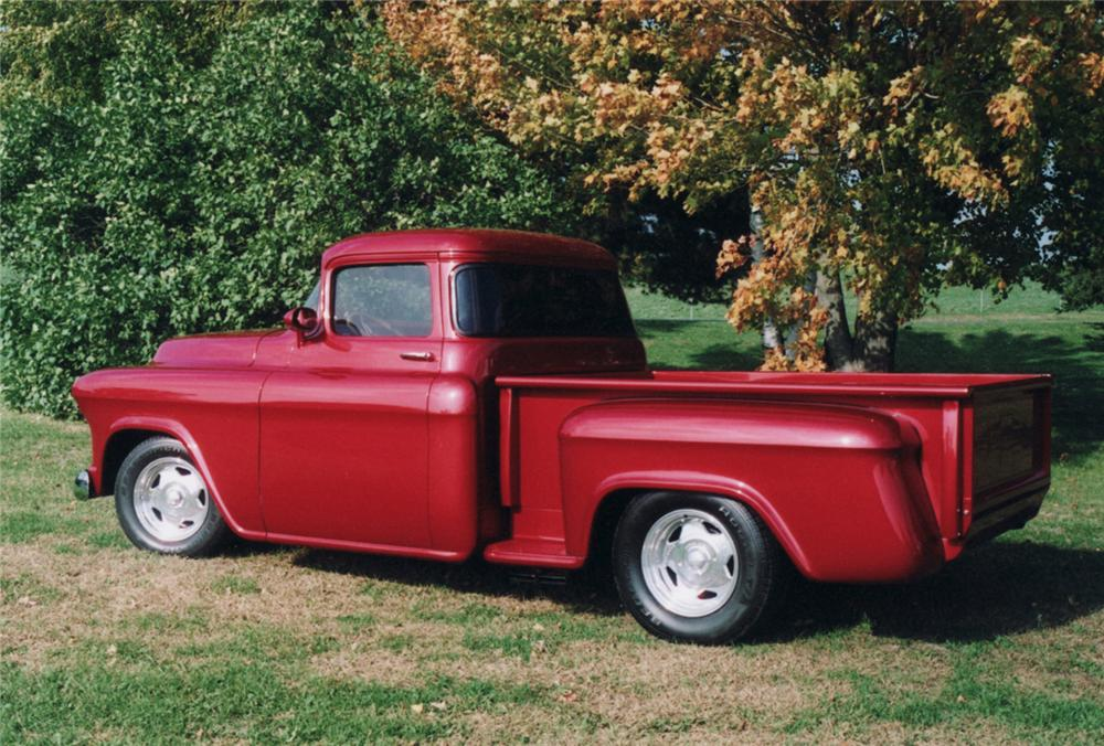 1955 CHEVROLET CUSTOM PICKUP - Rear 3/4 - 61228