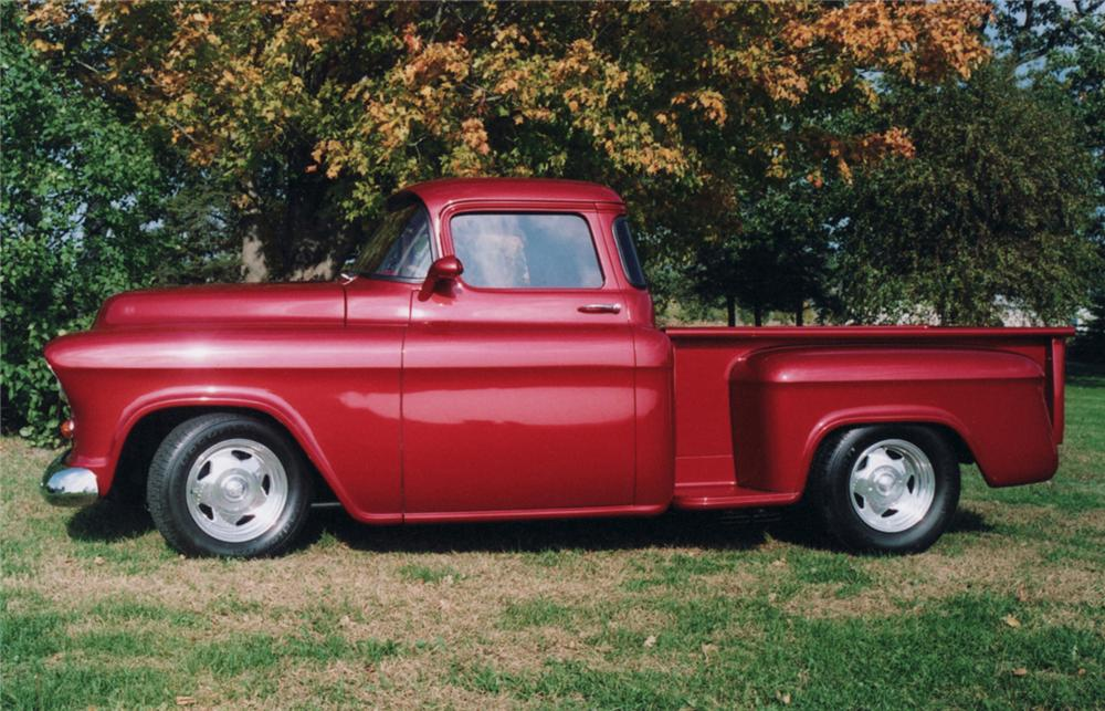 1955 CHEVROLET CUSTOM PICKUP - Side Profile - 61228