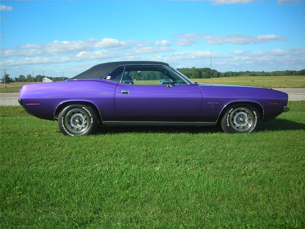 1970 PLYMOUTH BARRACUDA 2 DOOR GRAND COUPE - Side Profile - 61237