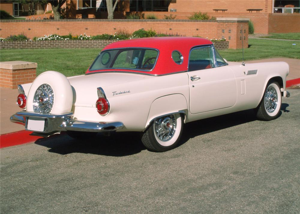 1956 FORD THUNDERBIRD CONVERTIBLE - Rear 3/4 - 61247