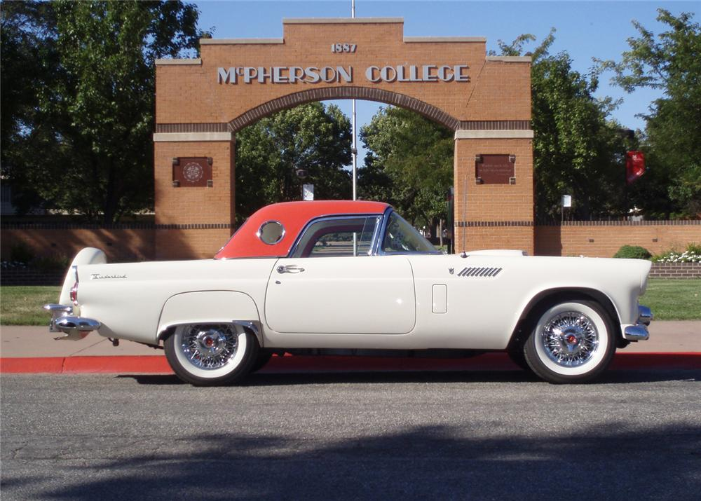 1956 FORD THUNDERBIRD CONVERTIBLE - Side Profile - 61247