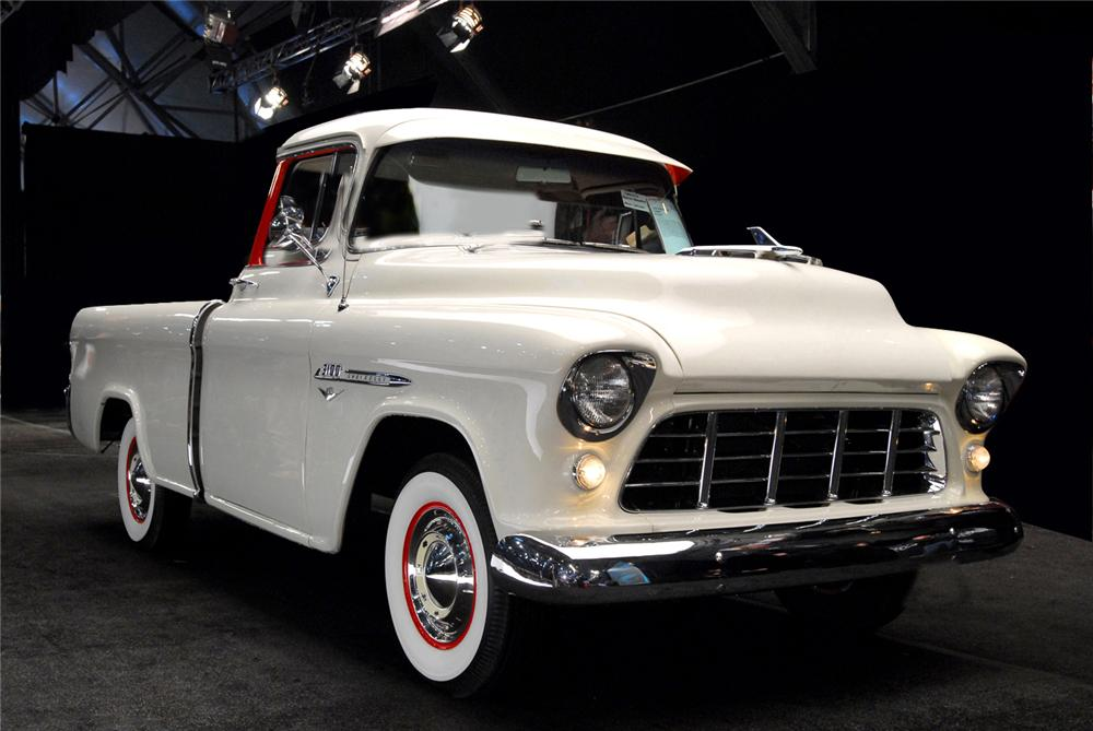 1955 CHEVROLET CAMEO PICKUP - Front 3/4 - 61261