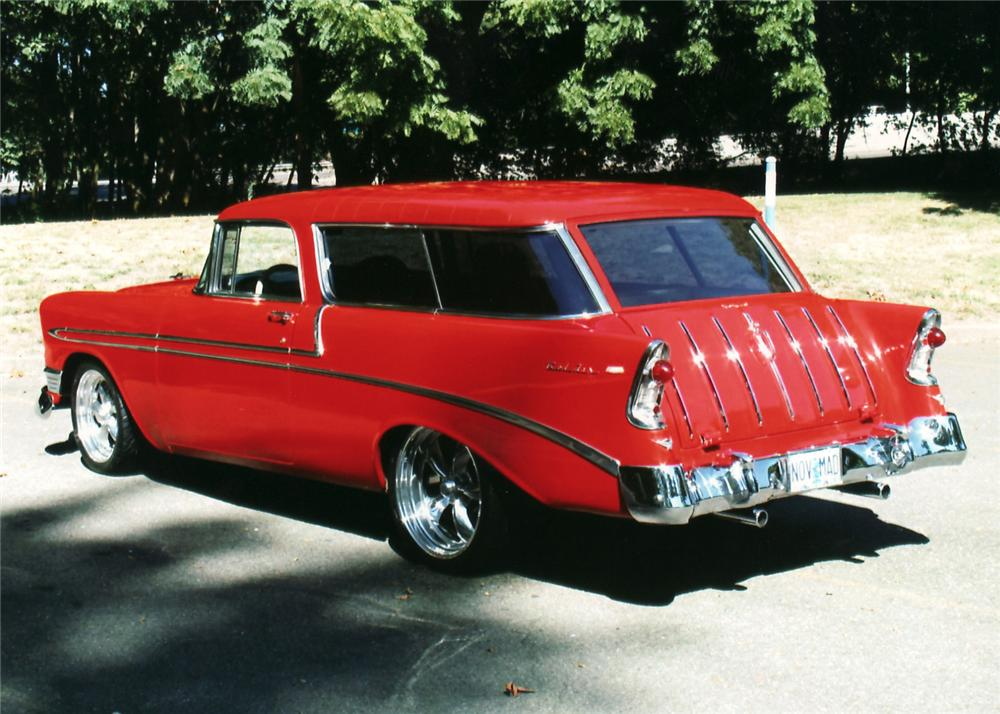 1956 CHEVROLET NOMAD CUSTOM WAGON - Rear 3/4 - 61266