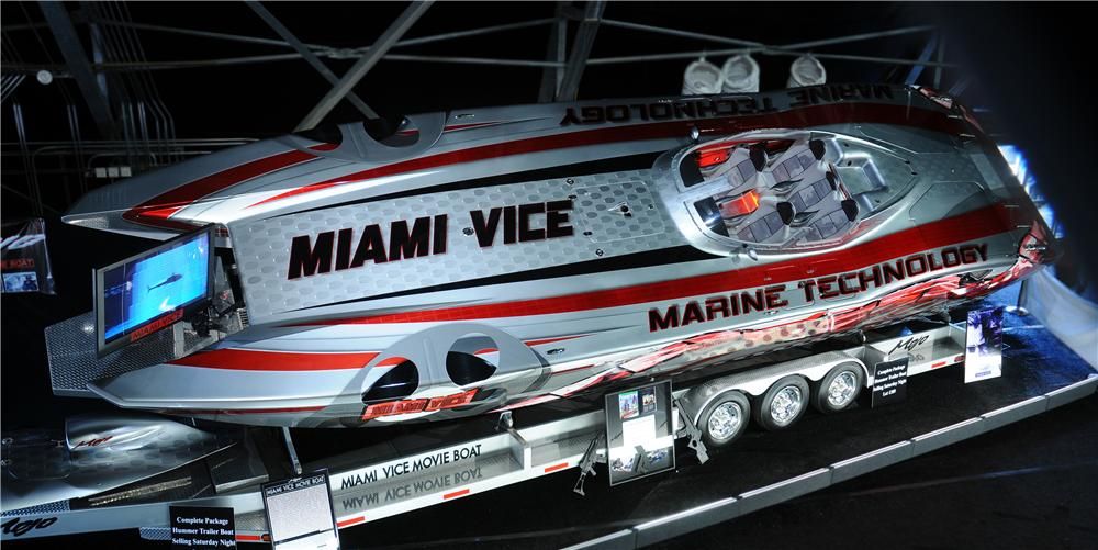 "2006 MARINE TECHNOLOGY INC 39RP ""MIAMI VICE MOVIE BOAT"" - Front 3/4 - 61274"