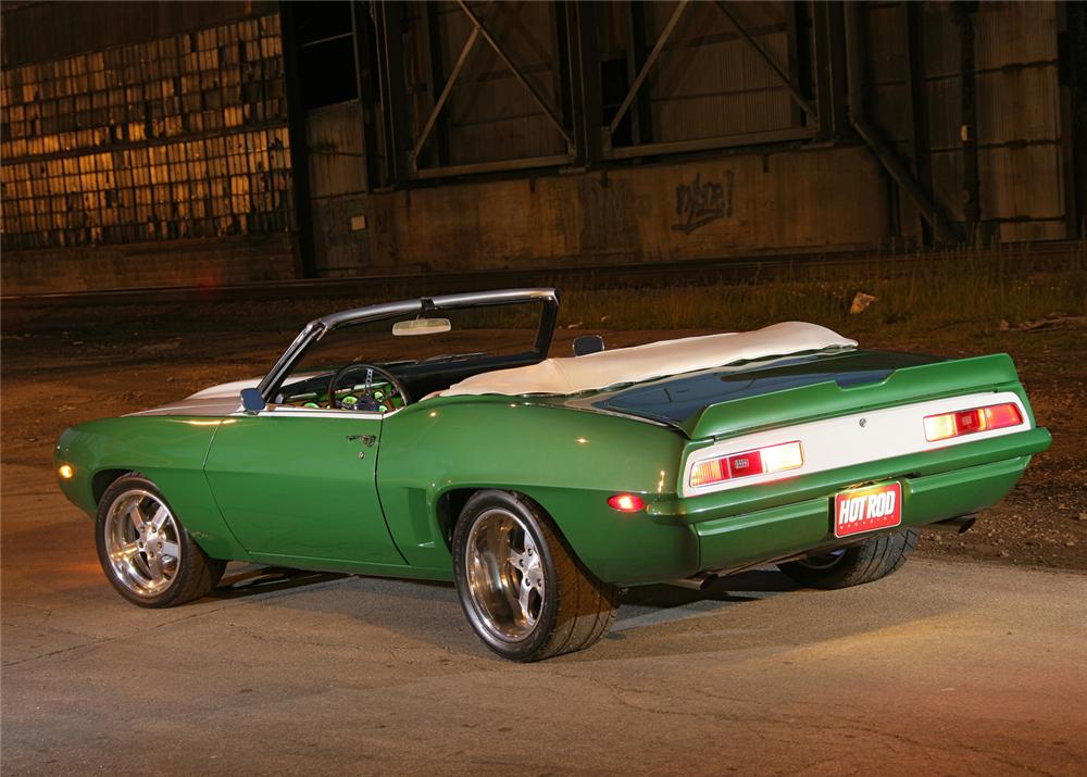 1969 CHEVROLET CAMARO CONVERTIBLE RE-CREATION - Rear 3/4 - 61284