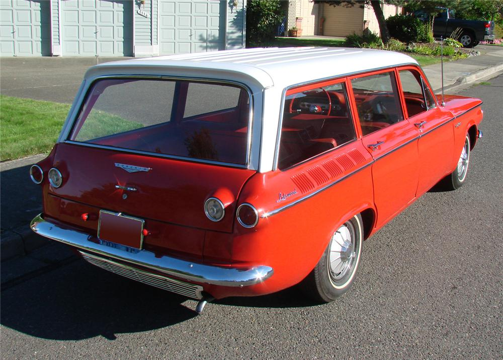 1961 CHEVROLET CORVAIR 4 DOOR STATION WAGON - Rear 3/4 - 61289