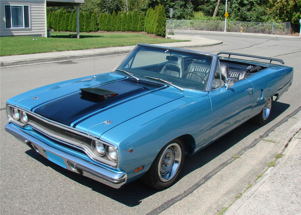 1970 PLYMOUTH ROAD RUNNER CONVERTIBLE - Front 3/4 - 61290