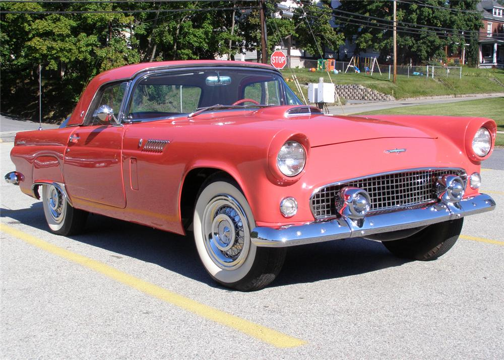 1956 FORD THUNDERBIRD CONVERTIBLE - Front 3/4 - 61296