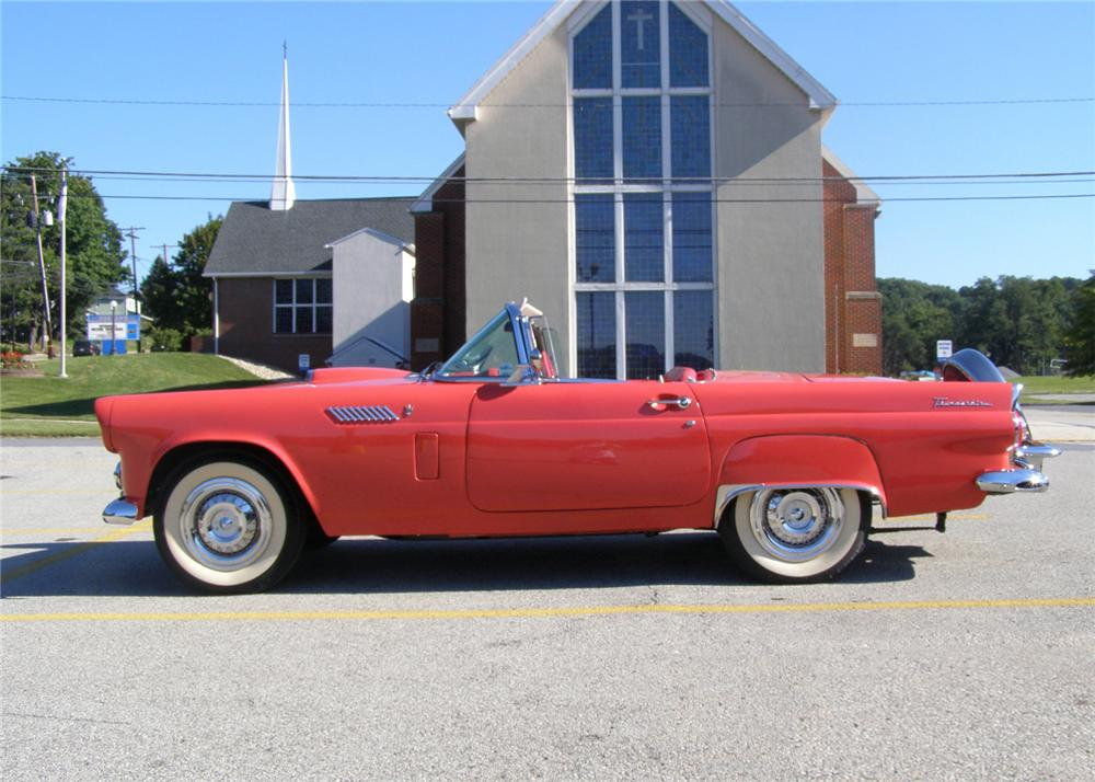 1956 FORD THUNDERBIRD CONVERTIBLE - Side Profile - 61296