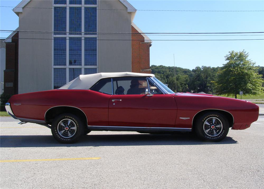 1969 PONTIAC GTO CONVERTIBLE - Side Profile - 61298