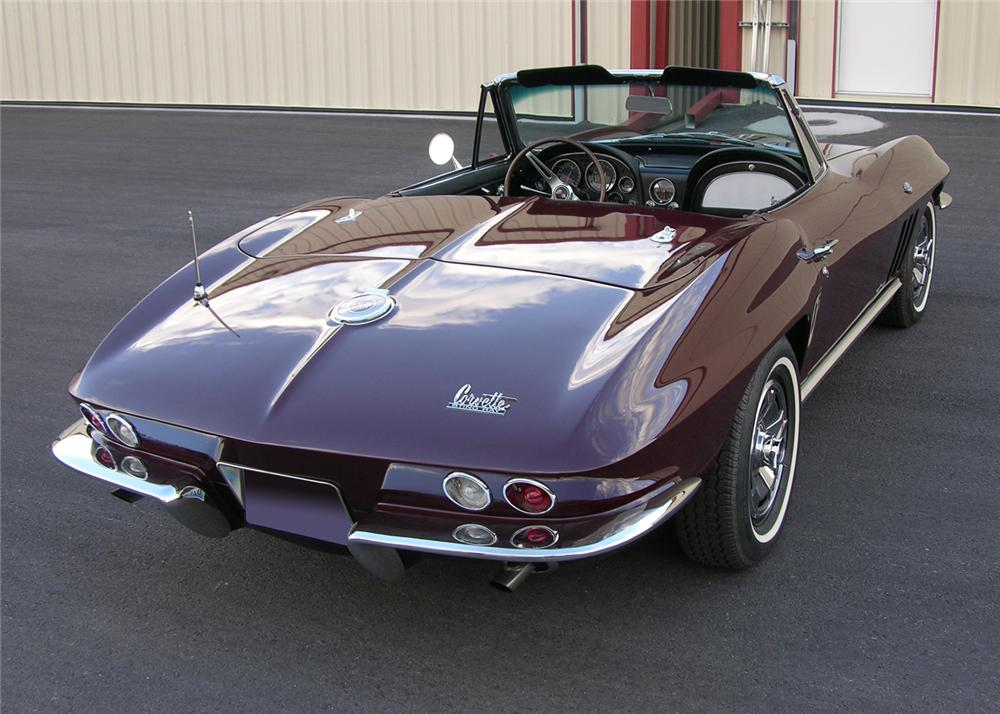 1966 CHEVROLET CORVETTE CONVERTIBLE - Rear 3/4 - 61300