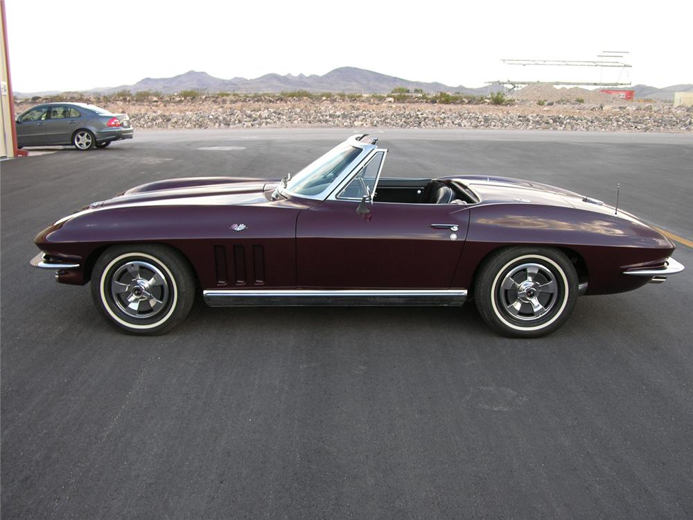 1966 CHEVROLET CORVETTE CONVERTIBLE - Side Profile - 61300